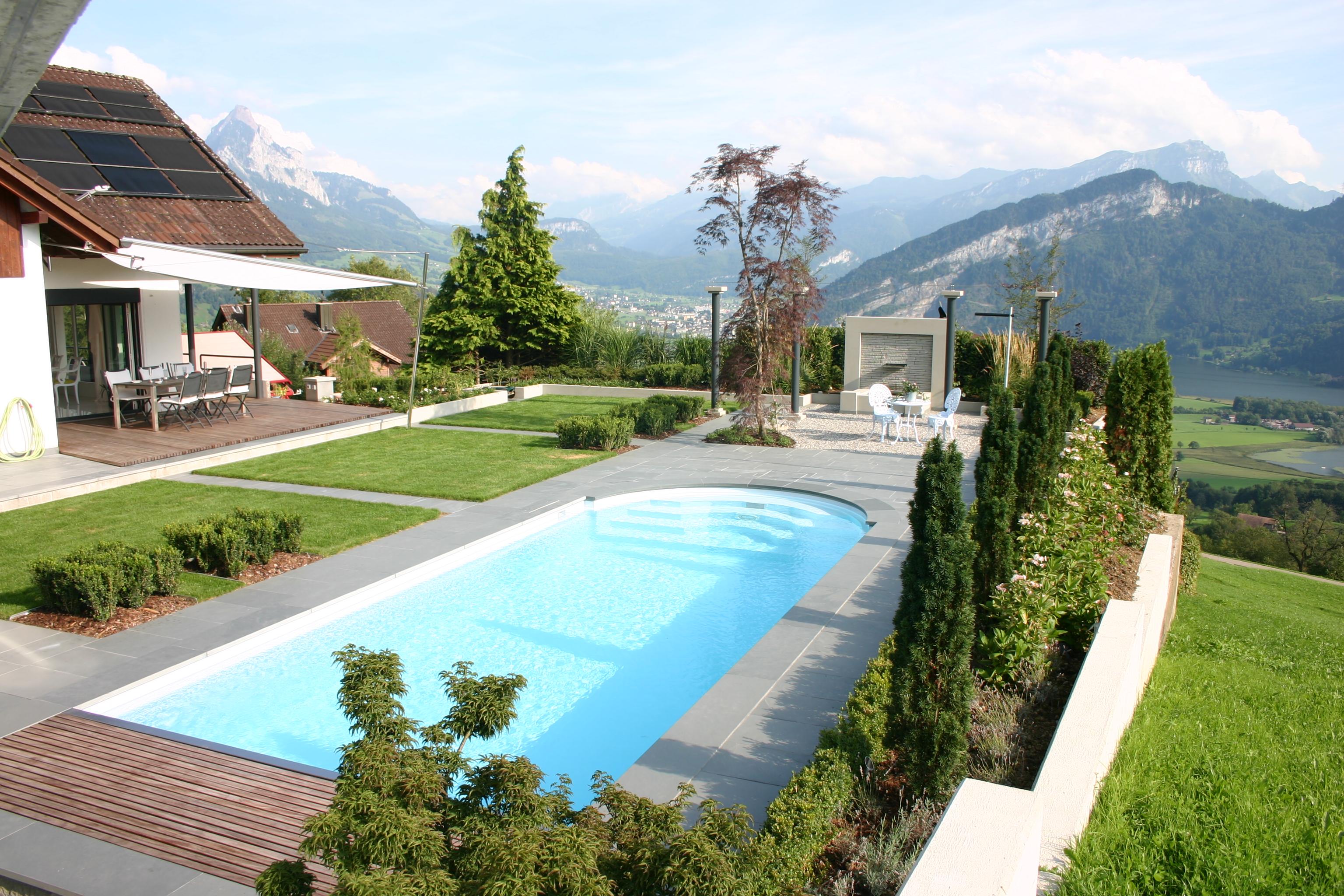 Swimming-Pool mit Chlor
